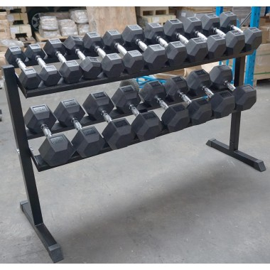Econo 2.5kg - 25kg Rubber Hex 10pr with Rack