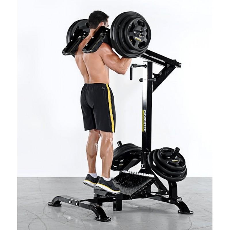 leverage squat calf machine