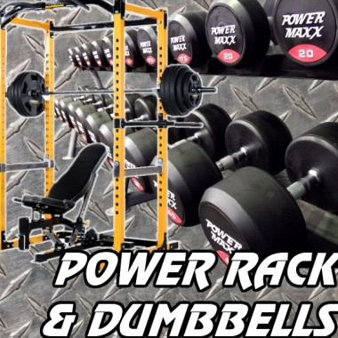 Powertec Power Rack and Dumbbell Gym