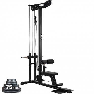 ATX® Lat Pulldown Machine Plate Loaded + 75kgs