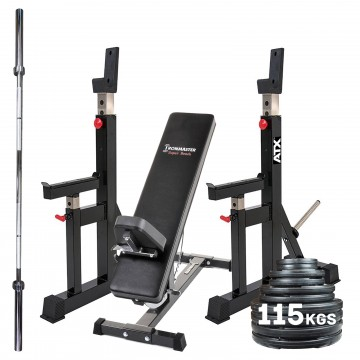 atx® squat stands  pro package  sam's fitness  compact
