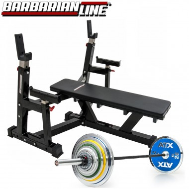 Barbarian Bench Press Package + ATX RAM and 157.5 kgs of Weights