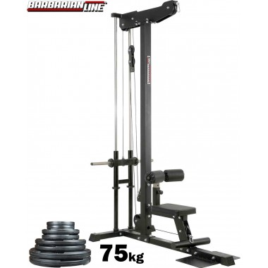 Barbarian Lat Pulldown Machine Plate Loaded + 75kgs
