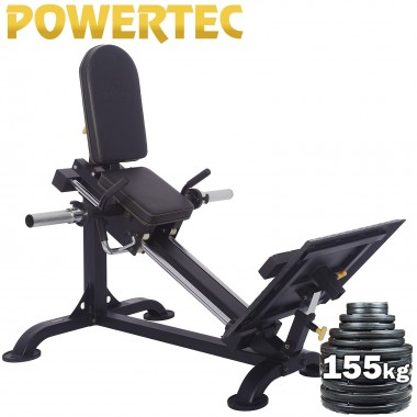 POWERTEC Compact Leg Sled Weight Plate Package