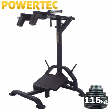 Powertec Squat Calf Machine Weight Plate Package