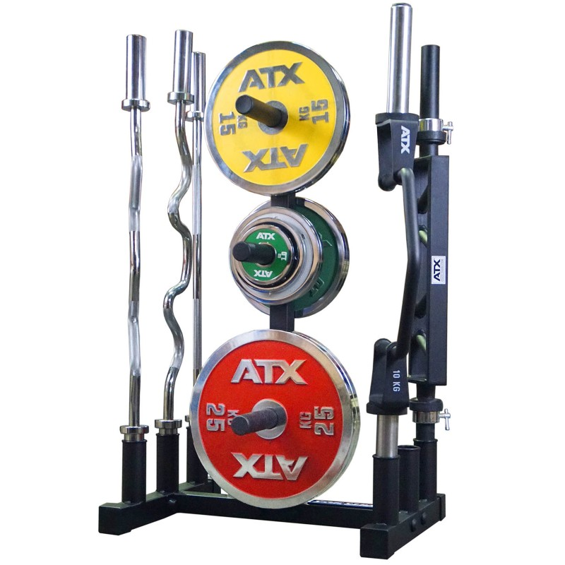 ... Barbell and Weight Plate Rack  sc 1 st  Samu0027s Fitness & Power Maxx Olympic Plate Barbell Stand | Great Value | Samu0027s Fitness
