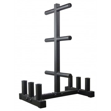 Barbell and Weight Plate Rack