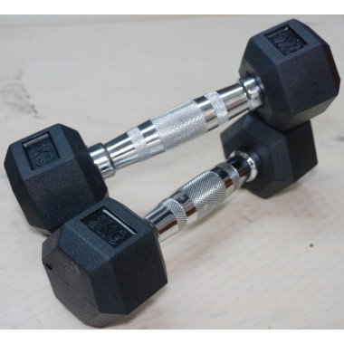 2 kg Rubber Hex Dumbbell Pair DISCOUNTED