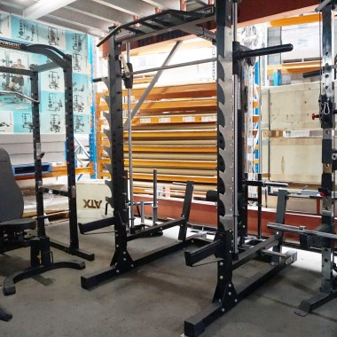 DISCOUNTED Barbarian Smith Machine Half Rack System