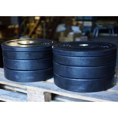 140kg Black Bumper Set