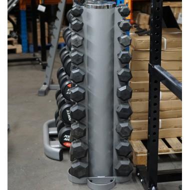 1kg to 10kg Rubber Hex Dumbbell Set - Floor Model