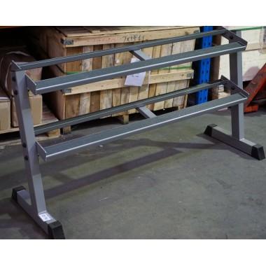 Power Maxx 2 Tier Rubber Hex Dumbbell Rack Floor Model