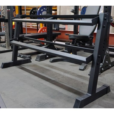 DISCOUNTED 2 Tier Rubber Hex Dumbbell Rack