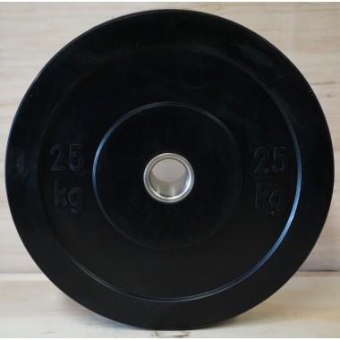 Power Maxx 25kg Black Bumper Plate - Discounted