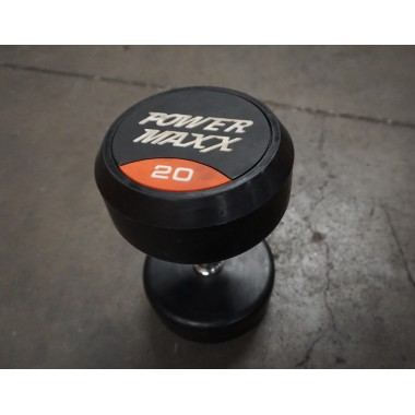 Power Maxx 20kg Round Rubber Dumbell (Single) - Floor Model