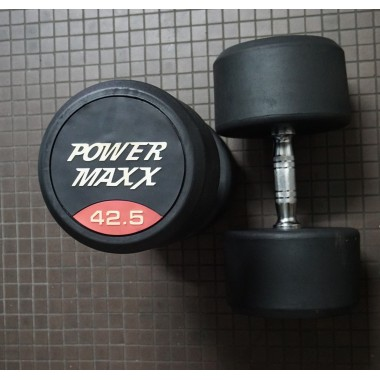 Power Maxx 42.5kg Round Rubber Dumbell (Pair)