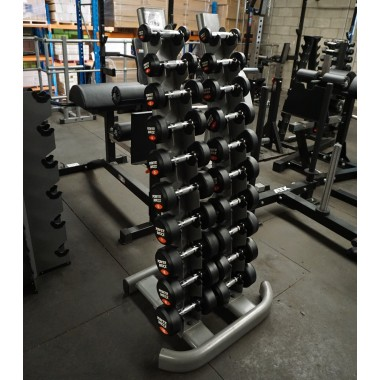 1 to 10kg Round Rubber Dumbbell Set - Floor Model