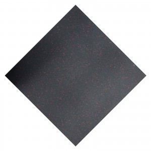23 x Premium Rubber Floor Tiles Red Fleck Tiles JOB LOT