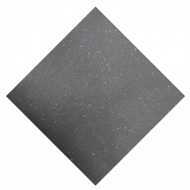 Premium Rubber Gym Floor Tiles Blue Fleck