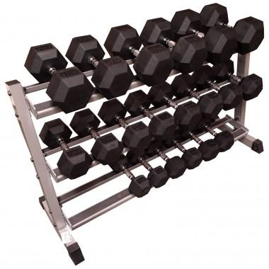 10kg - 40kg Rubber Hex 10pr with Rack