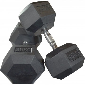 Rubber Hex 35 Kg Dumbbell Pair