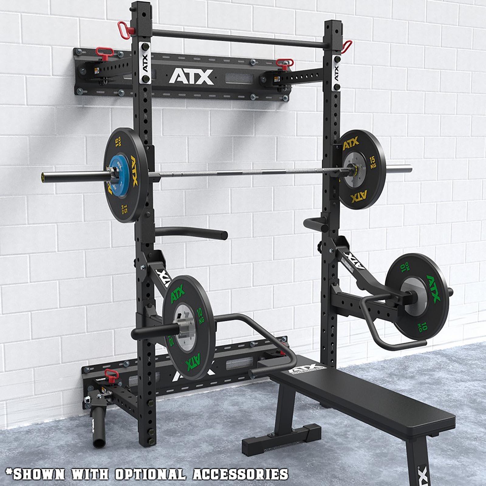 wall mounted folding squat rack