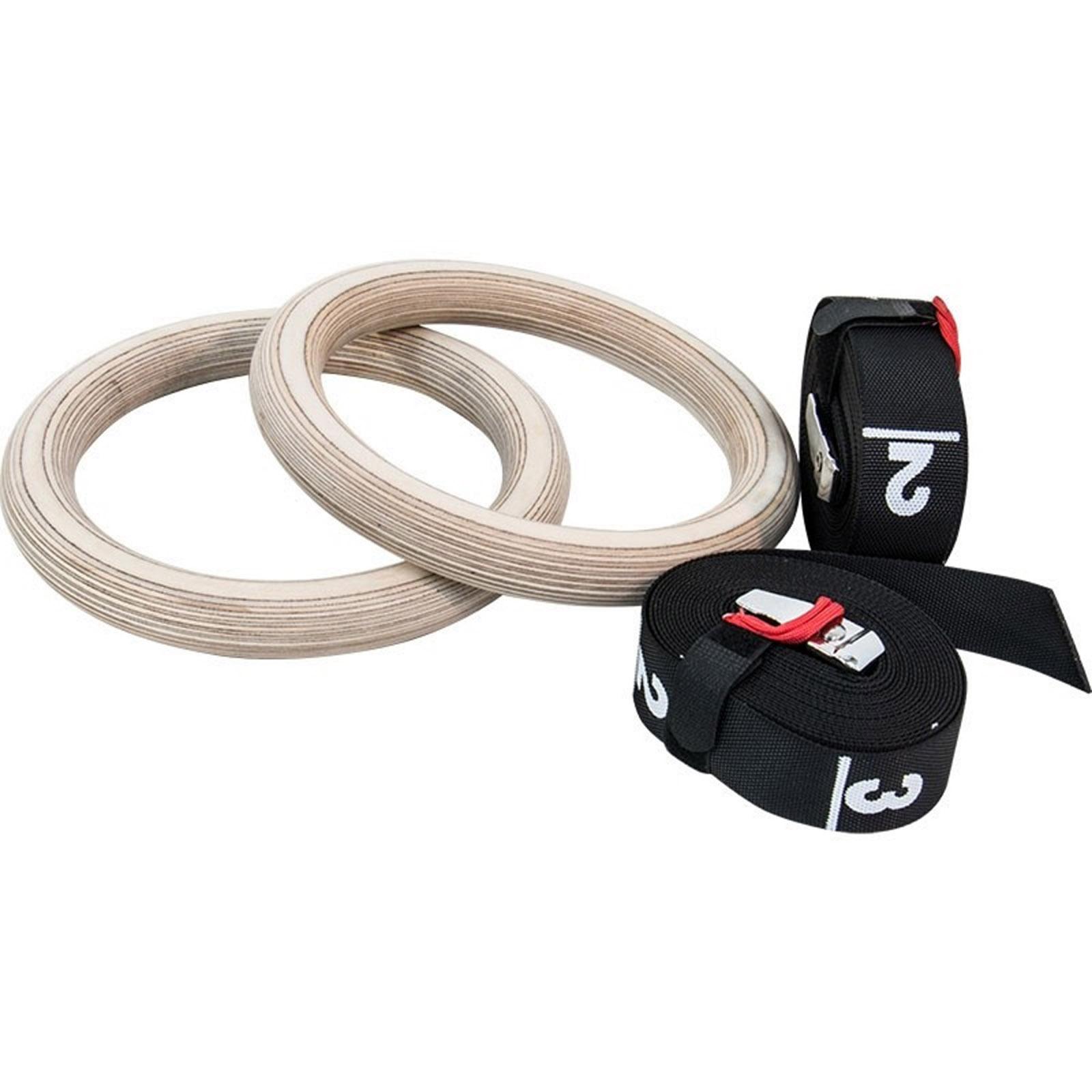 wooden gymnastic rings