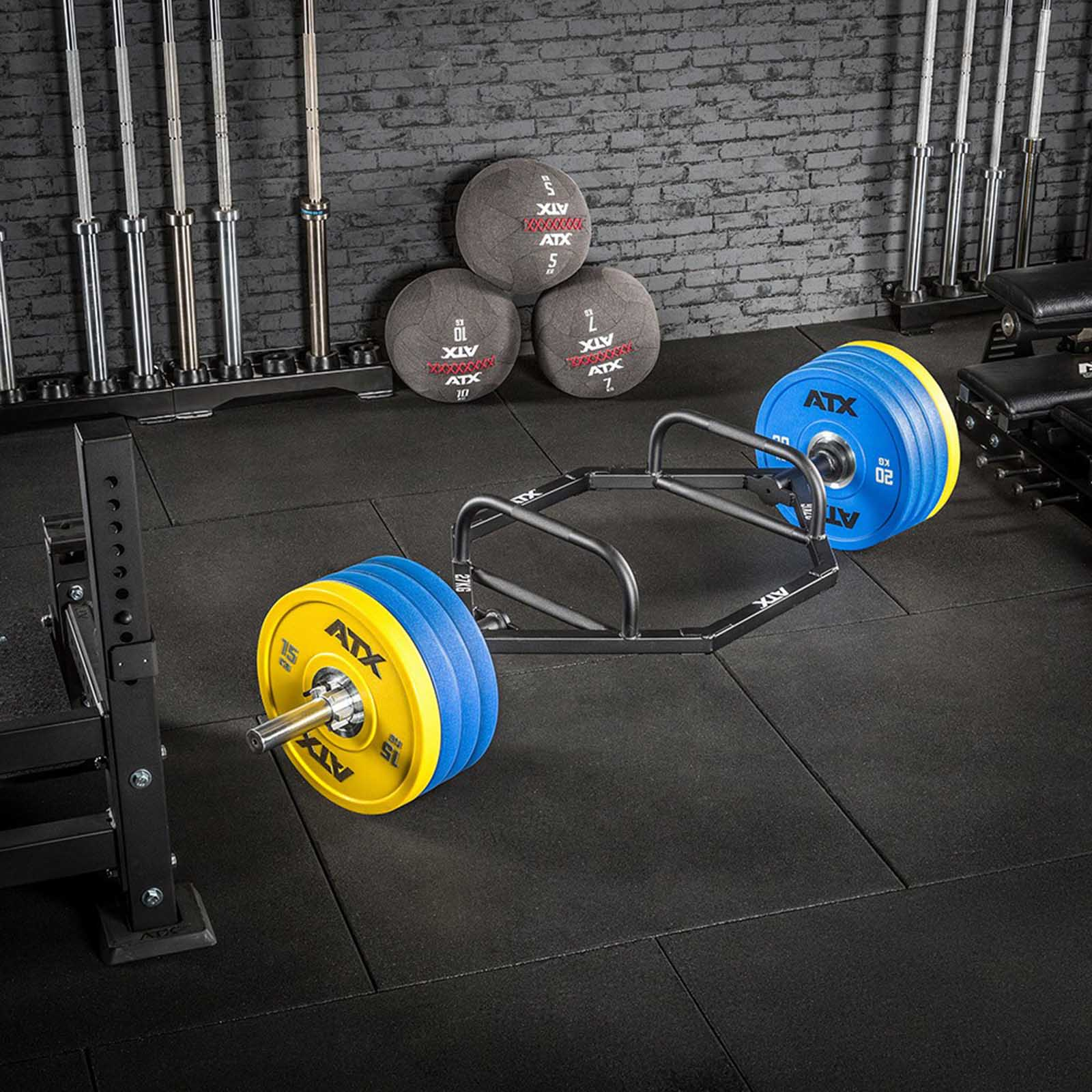 strongman hex trap bar