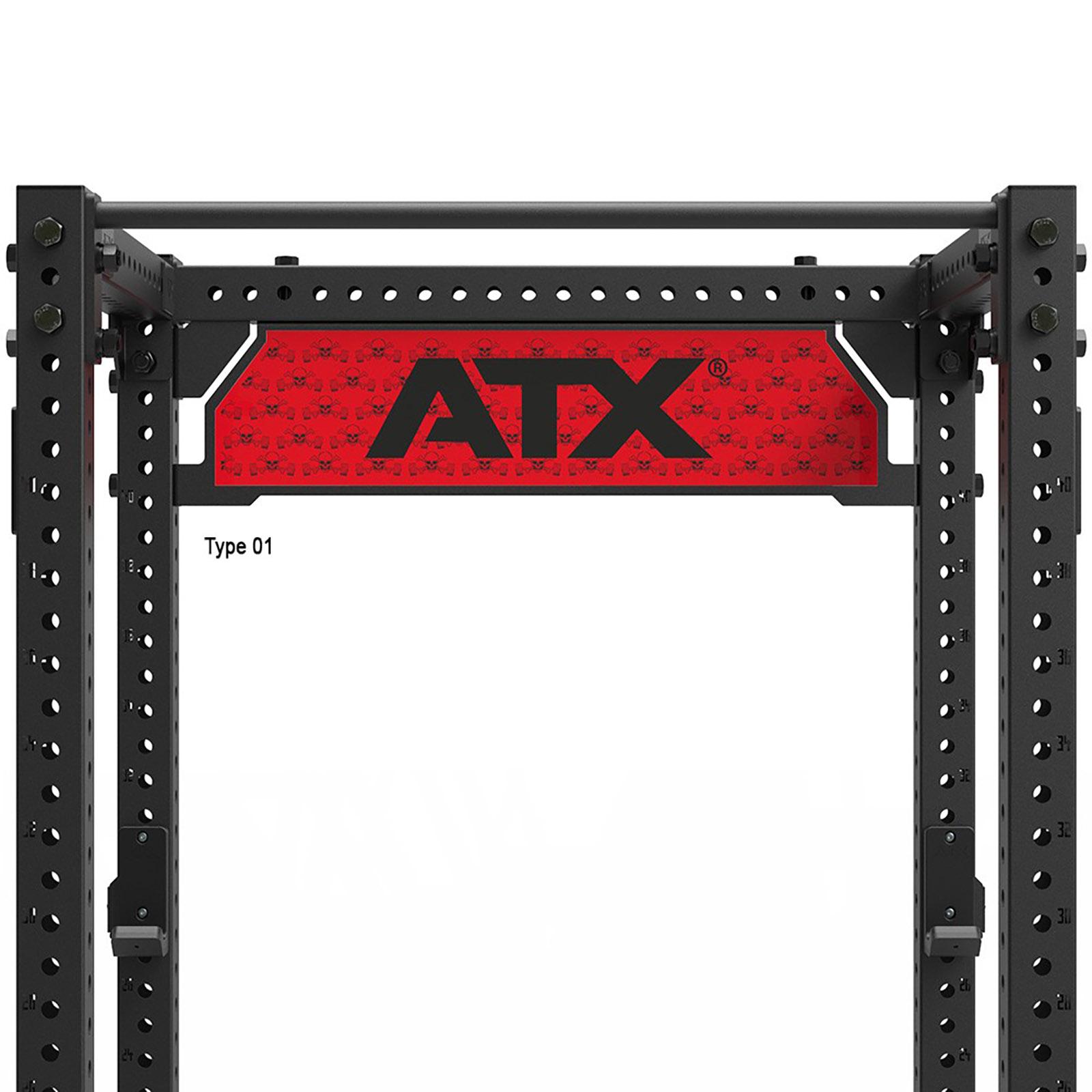 atx power rack logo plate