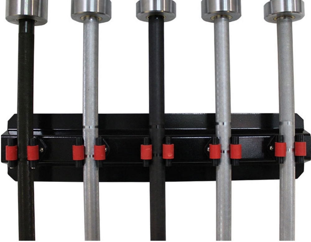Vertical wall mounted barbell rack