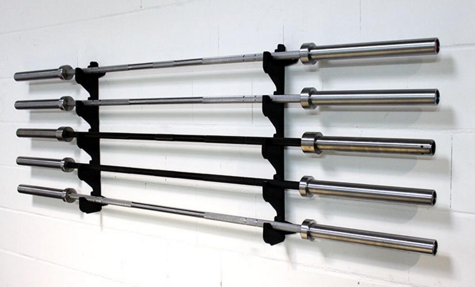 horizontal wall mounted barbell rack