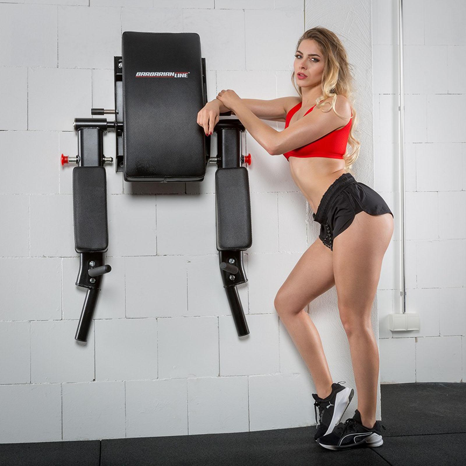 foldable dip bars knee raise station