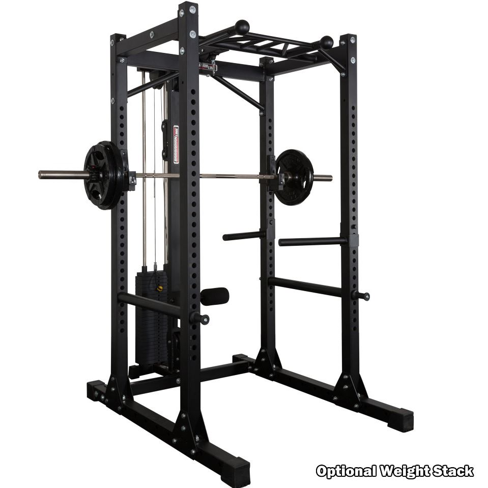 power rack system with lat pulldown