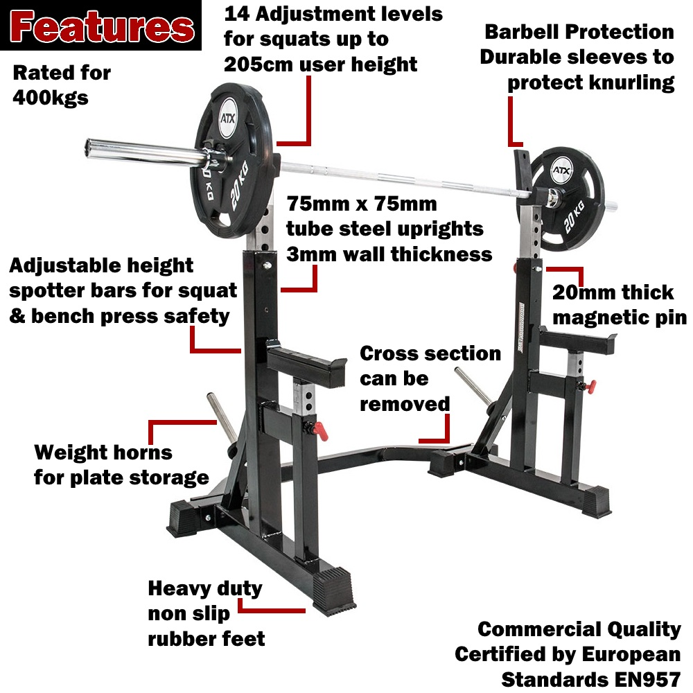 Other handy features are the barbell protection offered by ...