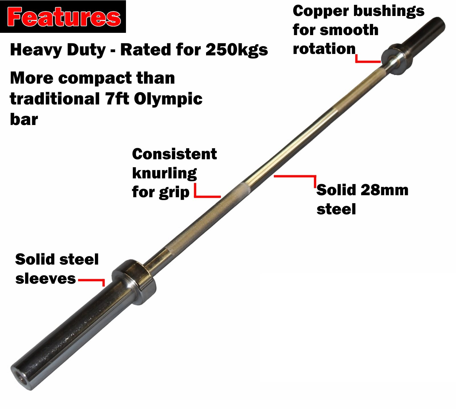 5ft olympic training barbell