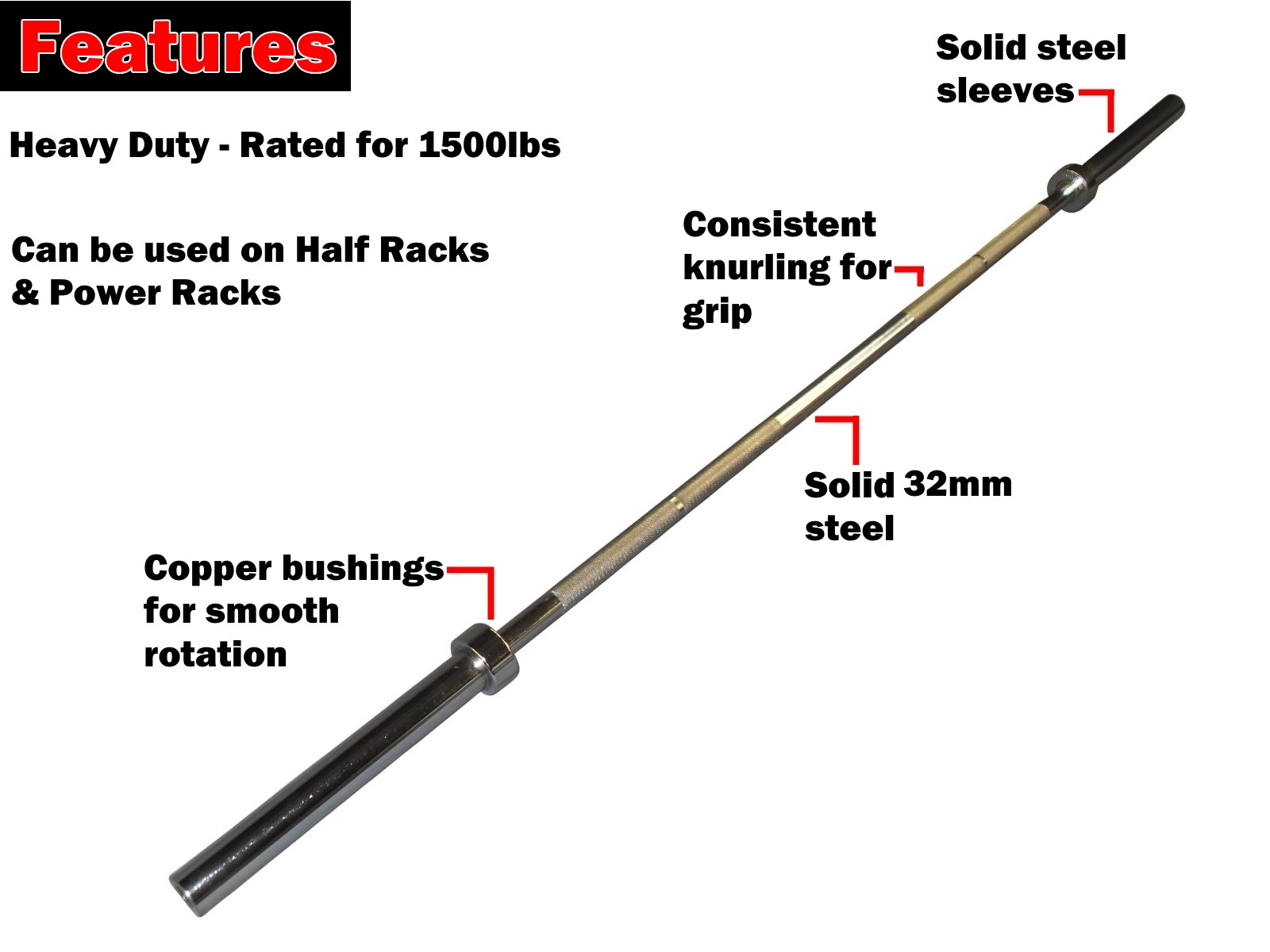 7ft copper bush olympic barbell