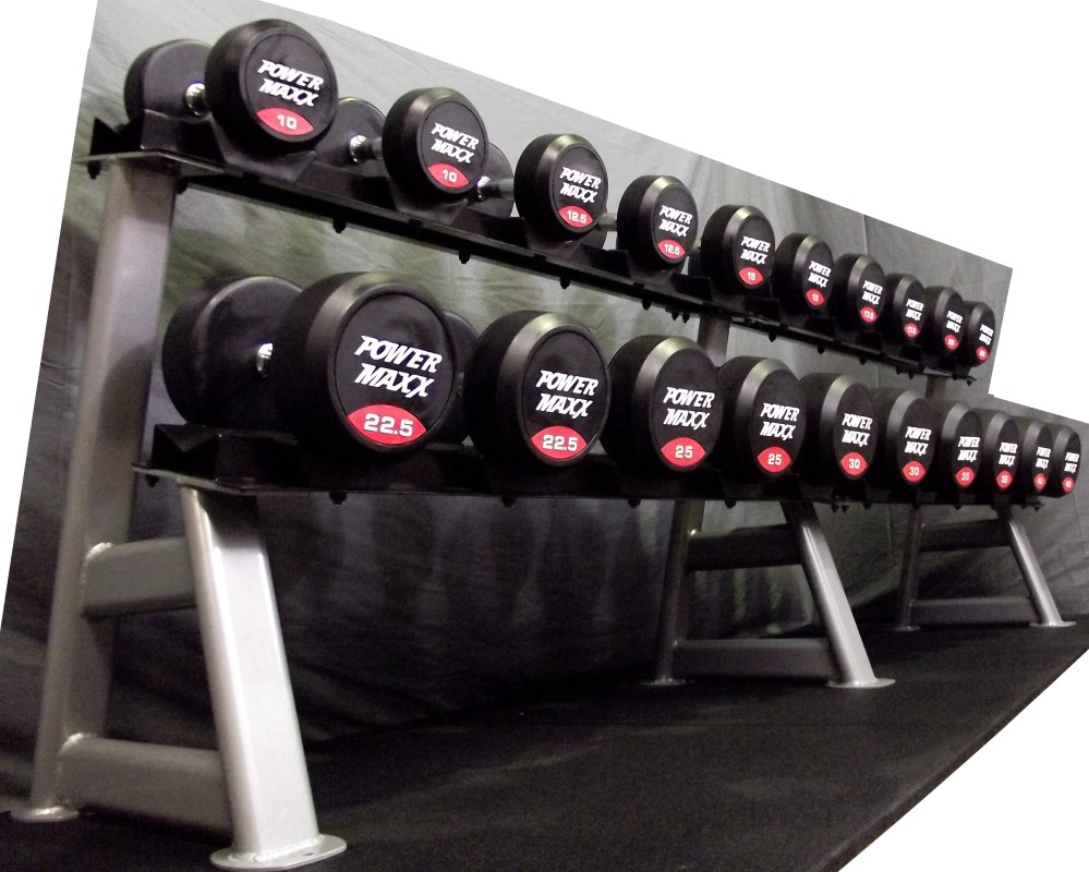 Rubber Dumbbell Set