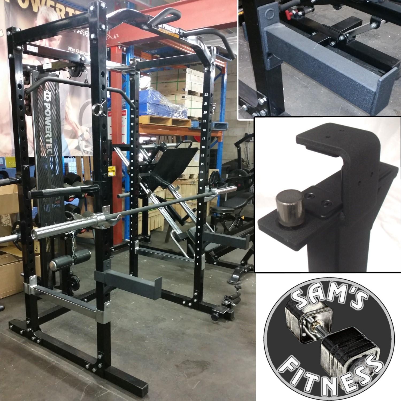 powertec power rack spotter bars