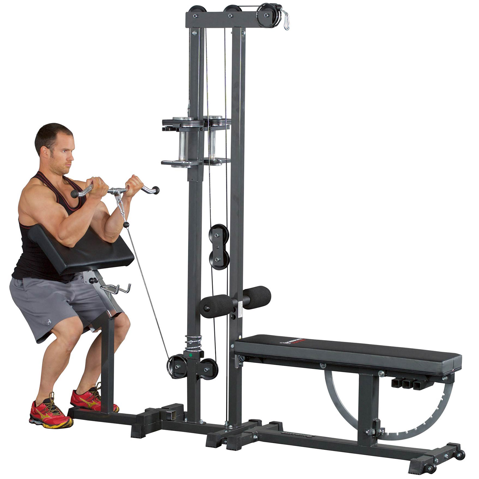 Preacher Curl Pad Extension Low Pulley