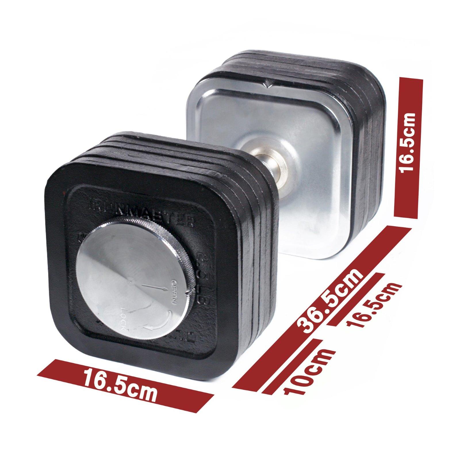 adjustable quick lock dumbbell set