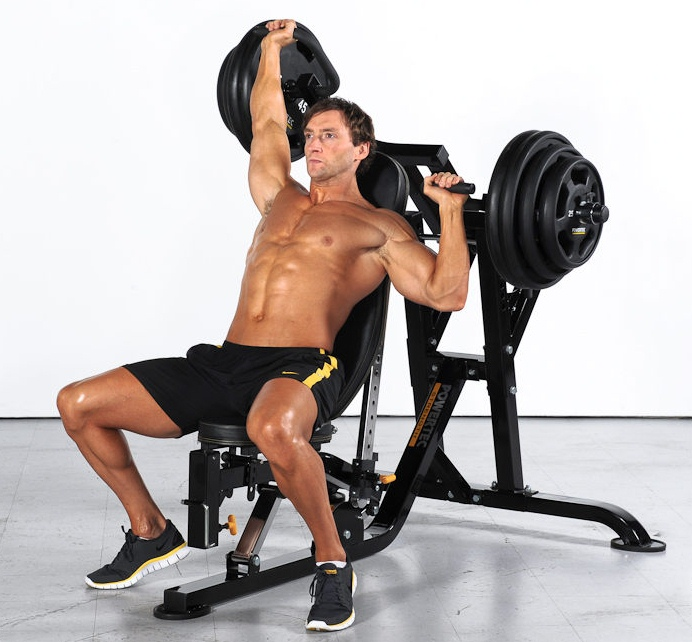 Good Iso-lateral Dumbbell Incline Bench Press Part - 6: Powertec