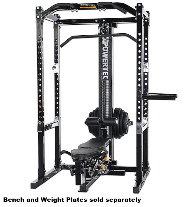 Powertec Power Rack System Weight Stack 190lb Squat Rack