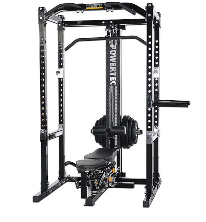 Powertec Power Rack Slim passionate brunette