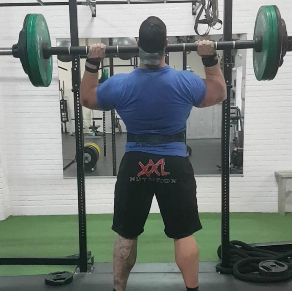 fat bar shoulder press