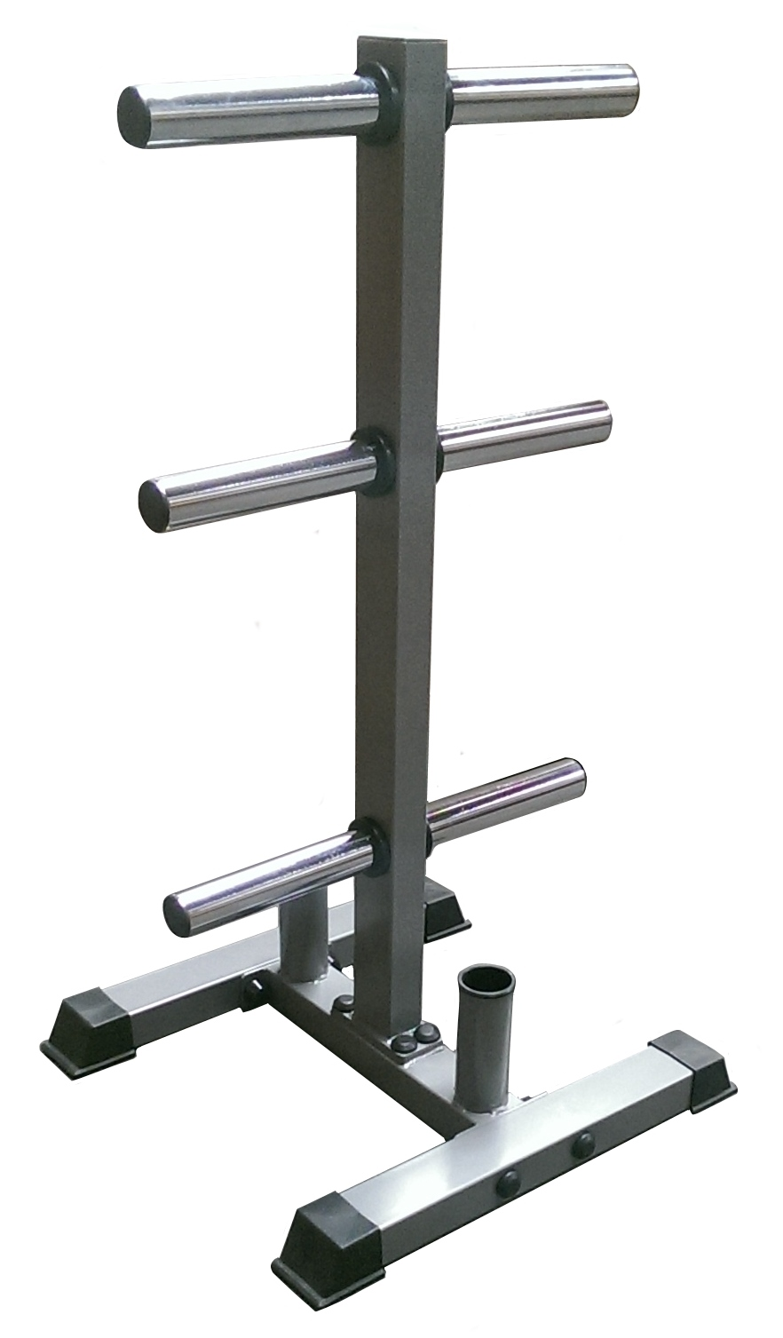 olympic weight plate stand with barbell holders