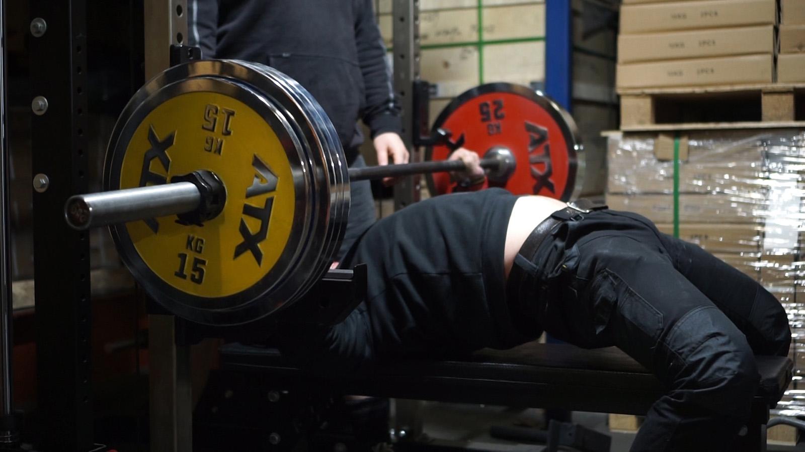 190 kg bench press