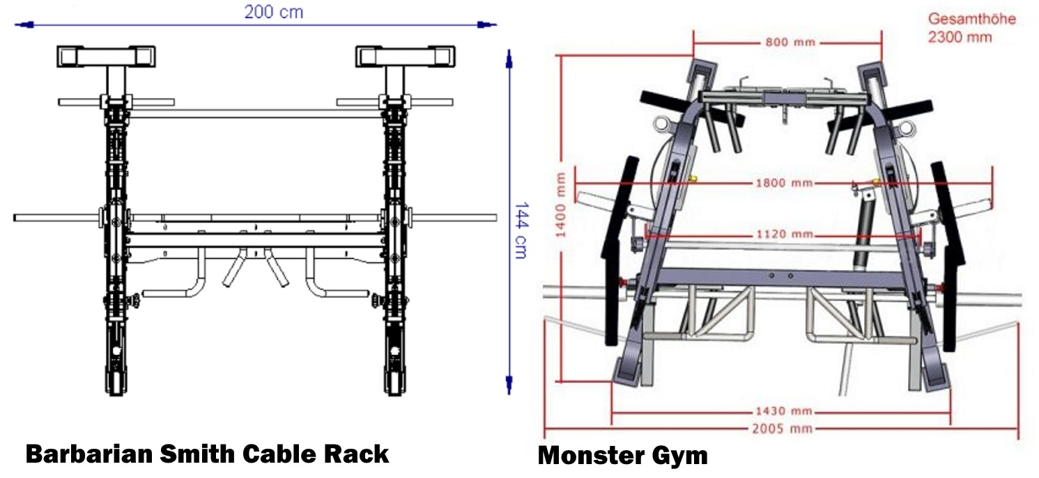 monster vs smith cable rack